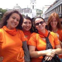Sarah and friends in Quito